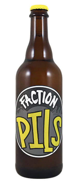 Faction Pils by Faction Brewing in California, United States
