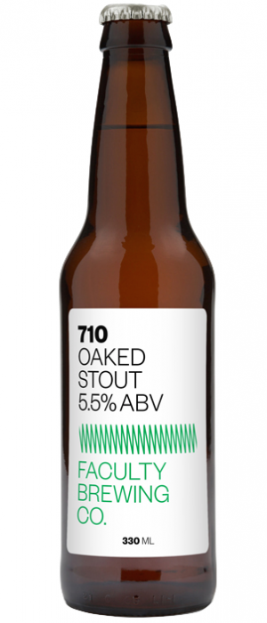 710 Oaked Stout by Faculty Brewing Co. in British Columbia, Canada