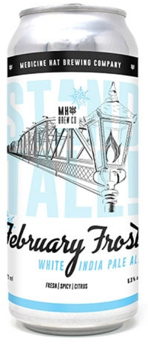 February Frost White India Pale Ale by Medicine Hat Brewing Company in Alberta, Canada