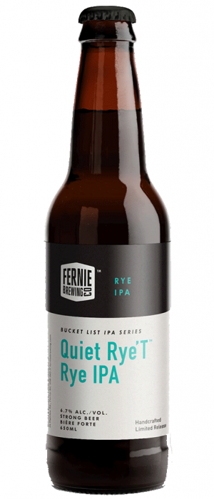 Quiet Rye't by Fernie Brewing Company in British Columbia, Canada