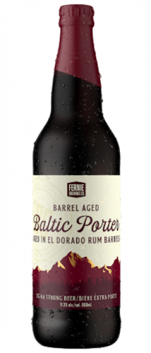 Barrel Aged Baltic Porter by Fernie Brewing Company in British Columbia, Canada