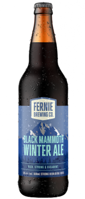 Black Mammoth Winter Ale by Fernie Brewing Company in British Columbia, Canada