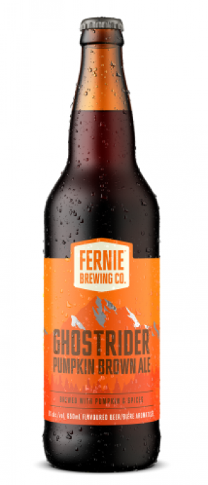 Ghostrider Pumpkin Brown Ale by Fernie Brewing Company in British Columbia, Canada