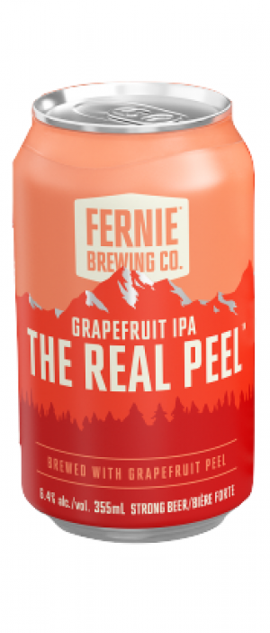 The Real Peel Grapefruit IPA by Fernie Brewing Company in British Columbia, Canada