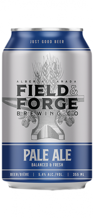 Pale Ale by Field & Forge Brewing Co. in Alberta, Canada