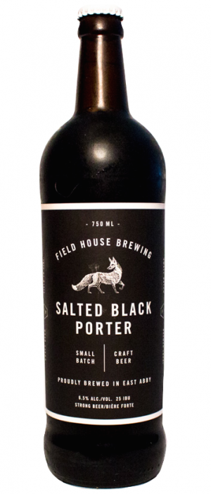 Salted Black Porter by Field House Brewing Co. in British Columbia, Canada