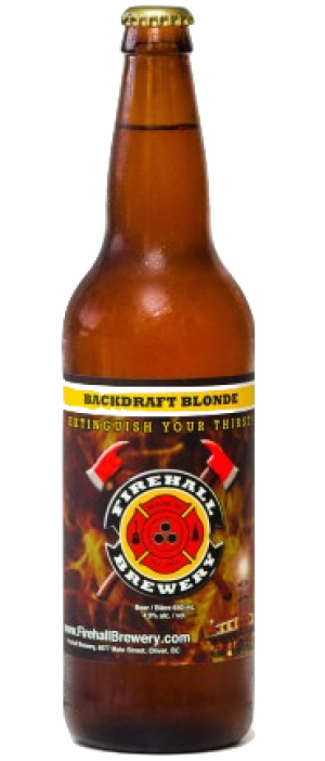 Backdraft Blonde by Firehall Brewery in British Columbia, Canada