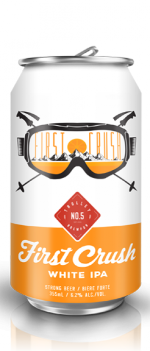 First Crush White IPA by Trolley 5 Restaurant & Brewery in Alberta, Canada