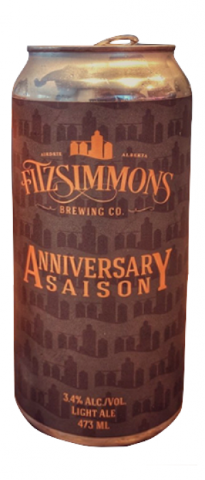 Anniversary Saison by Fitzsimmons Brewing Co. in Alberta, Canada