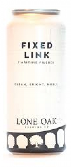 Fixed Link Maritime Pilsner by Lone Oak Brewing Co. in Prince Edward Island, Canada
