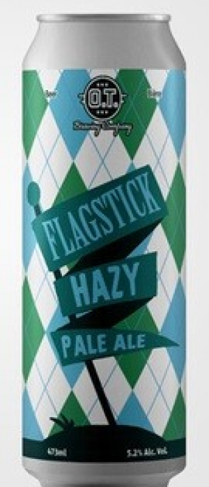 Flagstick Hazy Pale Ale by O.T. Brewing Company in Alberta, Canada