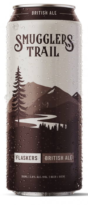 Flaskers British Ale by Smugglers Trail in British Columbia, Canada