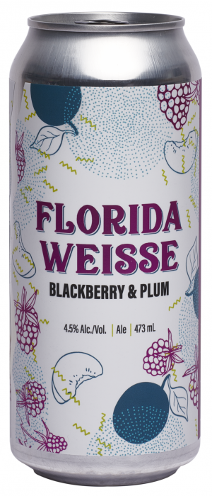 Florida Weisse: Blackberry and Plum by Blindman Brewing in Alberta, Canada