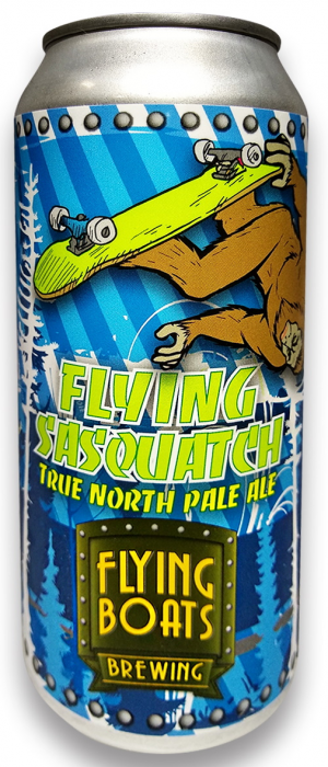 Flying Sasquatch True North Pale Ale by Flying Boats Brewing in New Brunswick, Canada