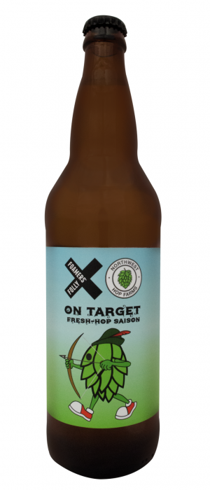 On Target Fresh-Hop Saison by Foamers' Folly Brewing Co. in British Columbia, Canada