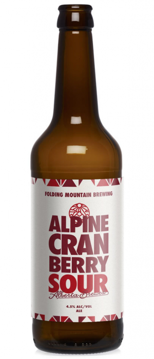 Alpine Cranberry Sour by Folding Mountain Brewing  in Alberta, Canada
