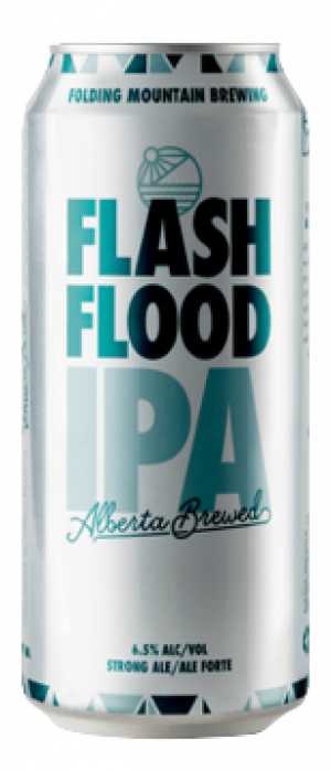 Flash Flood IPA by Folding Mountain Brewing  in Alberta, Canada