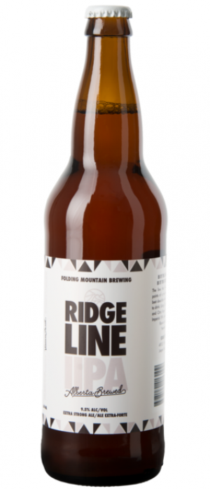Ridgeline Double IPA by Folding Mountain Brewing  in Alberta, Canada