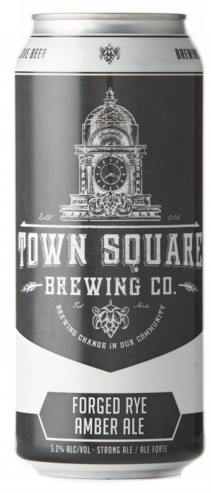 Forged Rye Amber Ale by Town Square Brewing Co. in Alberta, Canada