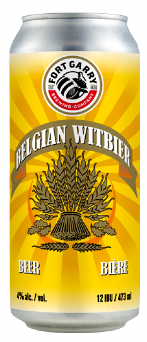 Belgian Witbier by Fort Garry Brewing in Manitoba, Canada