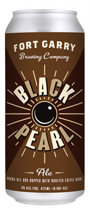 Black Pearl Ale by Fort Garry Brewing in Manitoba, Canada