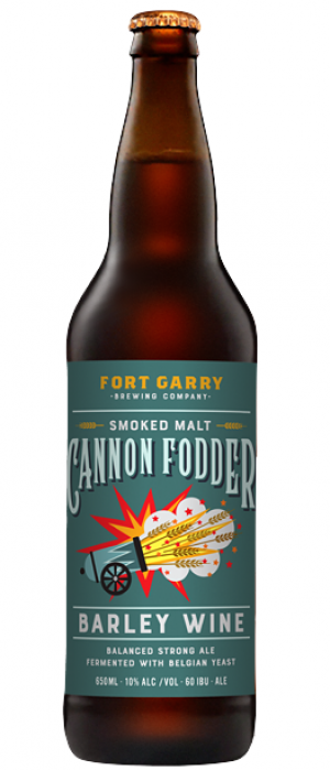 Cannon Fodder Barley Wine by Fort Garry Brewing in Manitoba, Canada