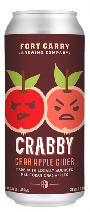 Crabby Crab Apple Cider by Fort Garry Brewing in Manitoba, Canada
