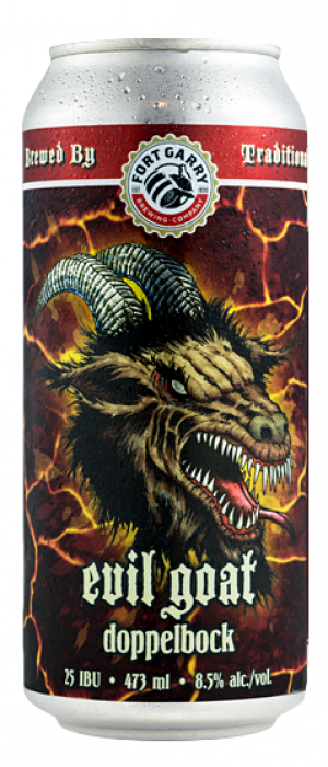Evil Goat Doppelbock by Fort Garry Brewing in Manitoba, Canada