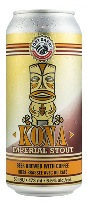 Kona Imperial Stout by Fort Garry Brewing in Manitoba, Canada