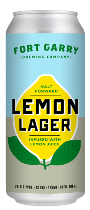 Lemon Lager by Fort Garry Brewing in Manitoba, Canada