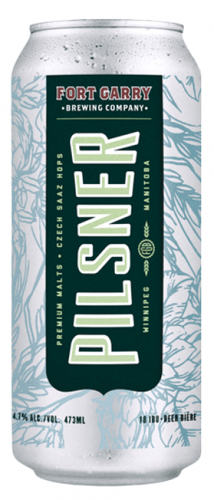 Pilsner by Fort Garry Brewing in Manitoba, Canada