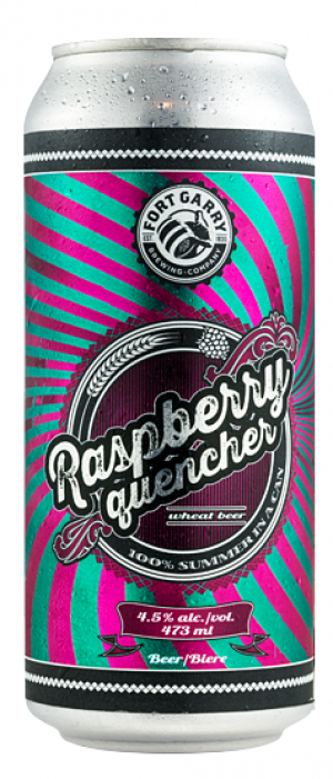 Raspberry Quencher by Fort Garry Brewing in Manitoba, Canada