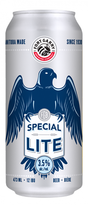 Special Lite by Fort Garry Brewing in Manitoba, Canada