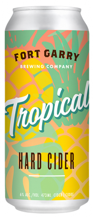 Tropical Hard Cider by Fort Garry Brewing in Manitoba, Canada