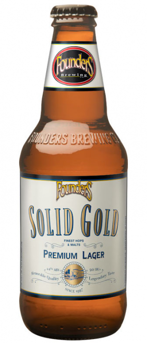 Solid Gold Premium Lager by Founders Brewing Company in Michigan, United States