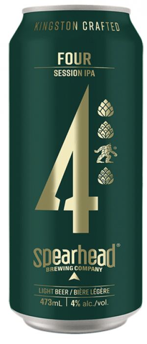 Four: Session IPA by Spearhead Brewing Company in Ontario, Canada