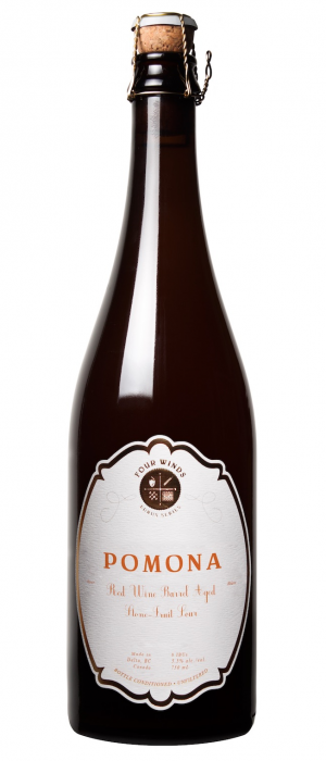 Pomona Red Wine Barrel Aged Stone-Fruit Sour by Four Winds Brewing Company in British Columbia, Canada