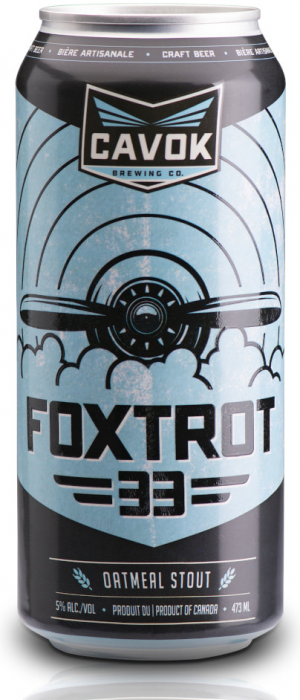 Foxtrot 33 Oatmeal Stout by Cavok Brewing Co. in New Brunswick, Canada