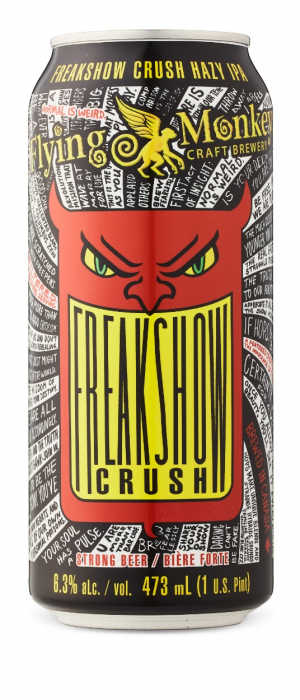 Freakshow Crush IPA by Flying Monkeys Craft Brewery in Ontario, Canada