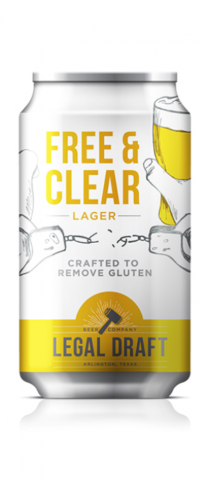 Free & Clear Gluten Free Lager by Legal Draft Beer Co. in Texas, United States