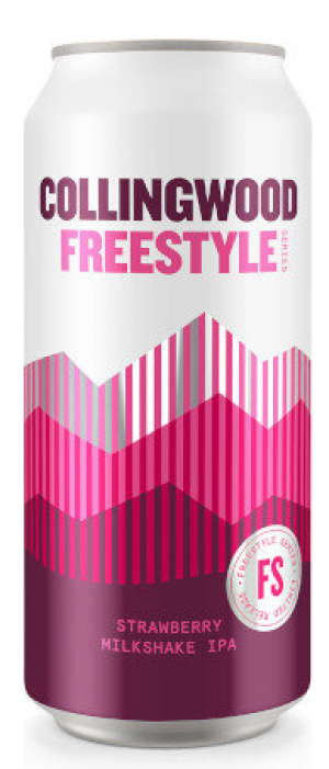 Freestyle Series: Strawberry Milkshake IPA by The Collingwood Brewery in Ontario, Canada