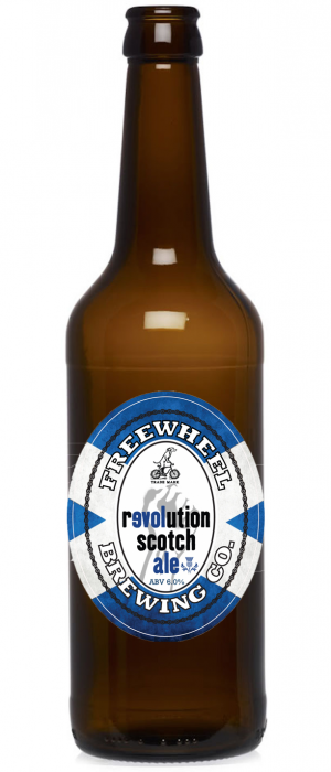 Revolution Scottish Ale by Freewheel Brewing Company in California, United States