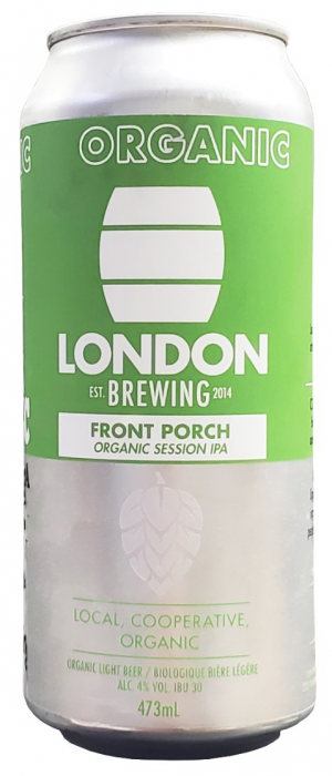 Front Porch Organic Session IPA by London Brewing Co-operative in Ontario, Canada