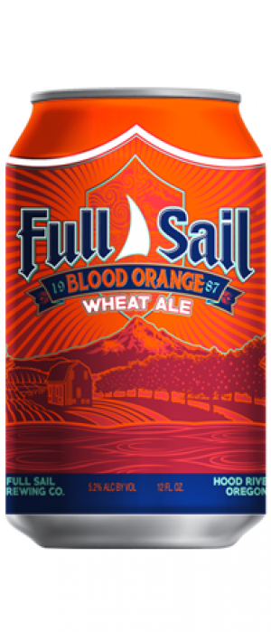 Blood Orange Wheat by Full Sail Brewing Company in Oregon, United States