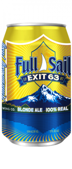 Exit 63 Blonde Ale by Full Sail Brewing Company in Oregon, United States