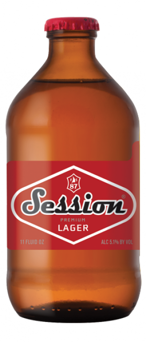Session Premium Lager by Full Sail Brewing Company in Oregon, United States