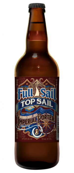 Top Sail Bourbon Barrel Aged Porter by Full Sail Brewing Company in Oregon, United States