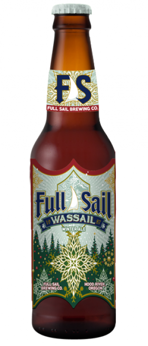 Wassail Winter Ale by Full Sail Brewing Company in Oregon, United States