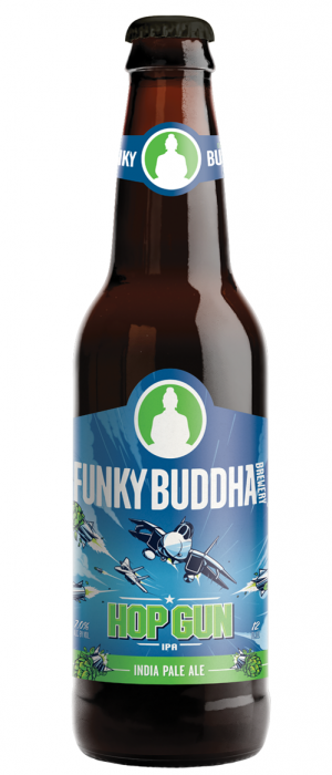 Hop Gun IPA by Funky Buddha Brewery in Florida, United States