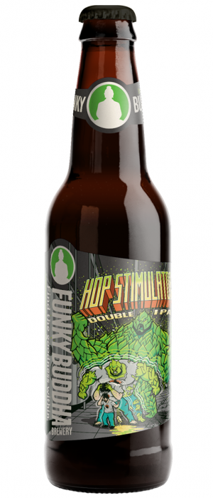 Hop Stimulator Double IPA by Funky Buddha Brewery in Florida, United States